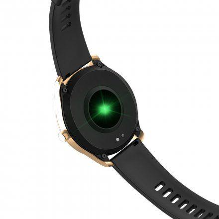 Różowozłoty smartwatch Gino Rossi + czarny pasek SW012-4