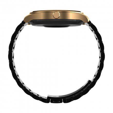 Różowozłoty smartwatch G.Rossi + czarny pasek SW012-4