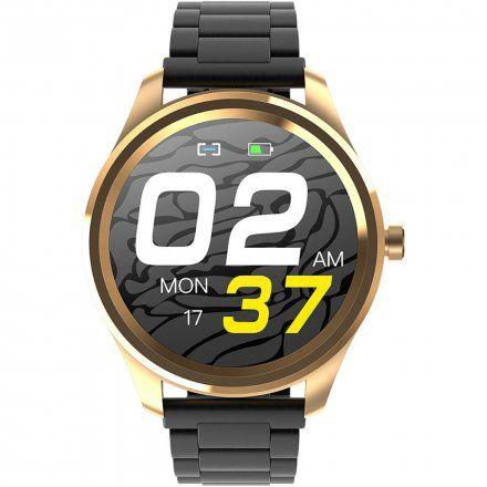 Różowozłoty smartwatch G.Rossi + szary pasek SW012-5
