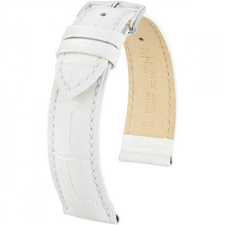 Biały pasek skórzany 24 mm HIRSCH Duke 01028101-2-24 (M)