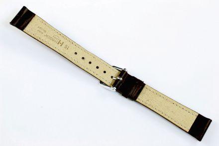 Brązowy pasek skórzany 18 mm HIRSCH Duke 01028110-1-18 (M)