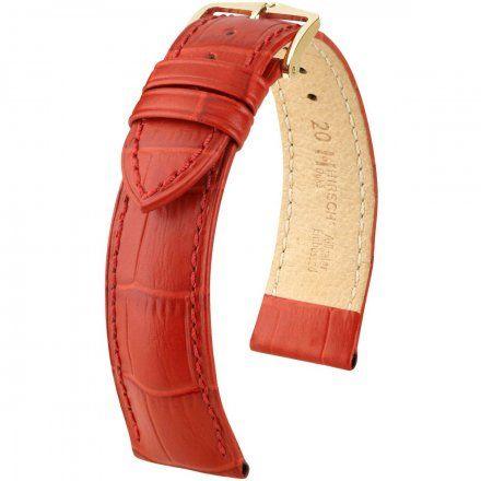 Czerwony pasek skórzany 12 mm HIRSCH Duke 01028120-1-12 (M)