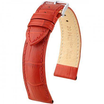 Czerwony pasek skórzany 20 mm HIRSCH Duke 01028120-2-20 (M)