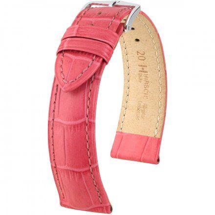 Różowy pasek skórzany 20 mm HIRSCH Duke 01028125-2-20 (M)