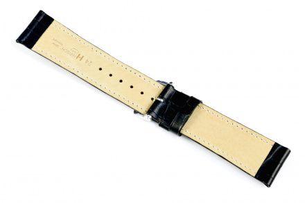 Czarny pasek skórzany 16 mm HIRSCH Duke 01028150-2-16 (M)