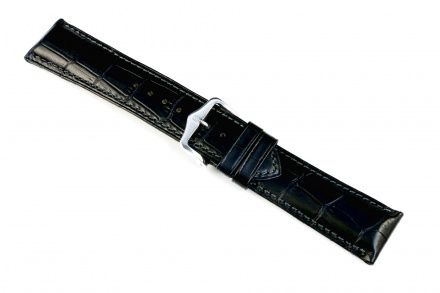 Czarny pasek skórzany 20 mm HIRSCH Duke 01028150-2-20 (M)