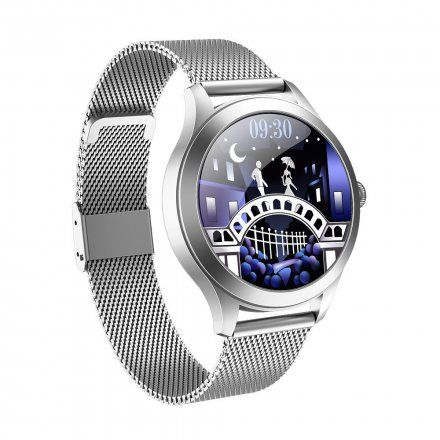 Srebrny smartwatch G.Rossi SW014-1