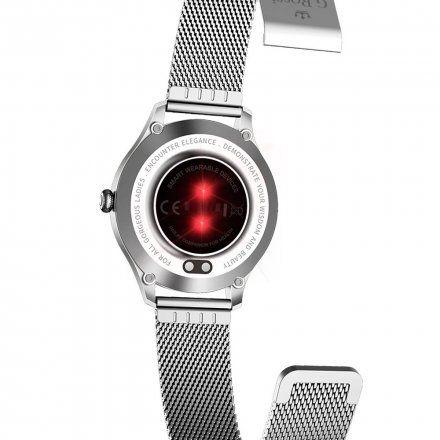 Srebrny smartwatch Gino Rossi SW014-1