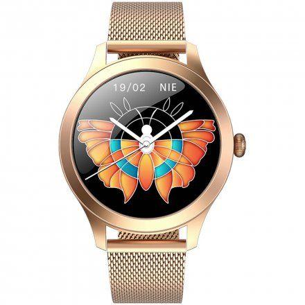 Różowozłoty smartwatch Gino Rossi SW014-2