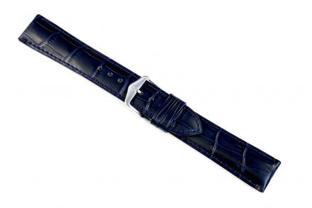 Niebieski pasek skórzany 12 mm HIRSCH Duke 01028180-2-12 (M)