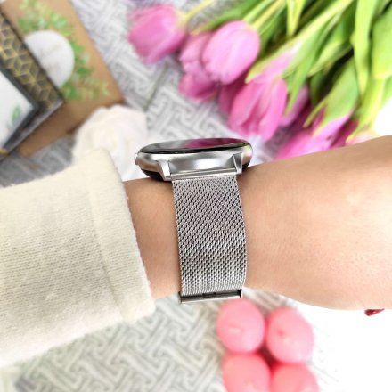 Srebrny smartwatch Gino Rossi SW015-3