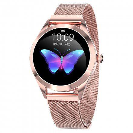 Różowozłoty smartwatch damski G.Rossi SW017-4
