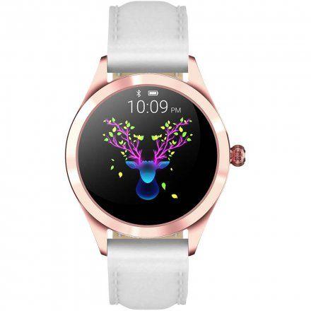 Różowozłoty smartwatch damski G.Rossi SW017-5