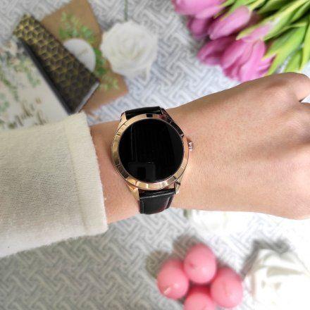Różowozłoty smartwatch damski G.Rossi SW017-6