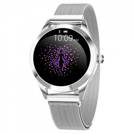 Srebrny smartwatch damski Gino Rossi SW017-7