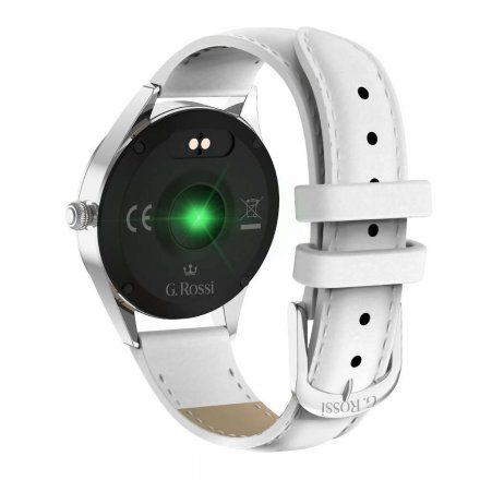 Srebrny smartwatch damski G.Rossi SW017-8