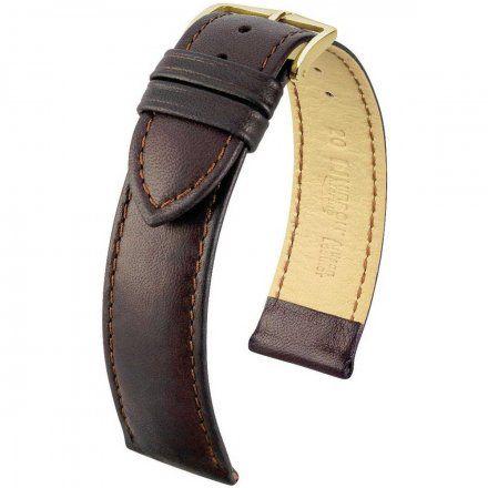 Brązowy pasek skórzany 19 mm HIRSCH Merino 01206010-1-19 (L)