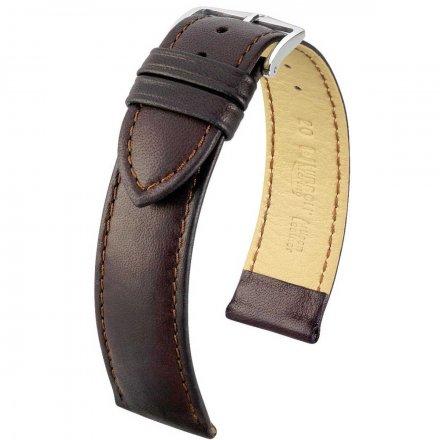 Czarny pasek skórzany 22 mm HIRSCH Merino 01206050-2-22 (L)