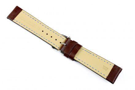 Brązowy pasek skórzany 24 mm HIRSCH Heavy Calf 01475010-2-24 (L)