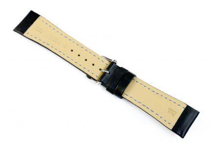 Czarny pasek skórzann 20 mm HIRSCH Heavy Calf 01475050-2-20 (L)