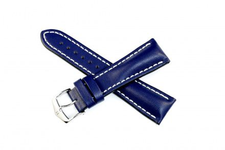 Niebieski pasek skórzany 18 mm HIRSCH Heavy Calf 01475080-2-18 (L)