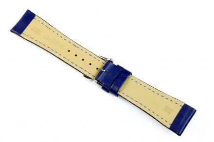 Niebieski pasek skórzany 20 mm HIRSCH Heavy Calf 01475080-2-20 (L)