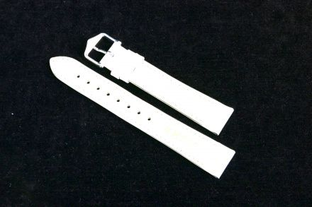 Biały pasek skórzany 16 mm HIRSCH Kansas 01502000-2-16 (L)
