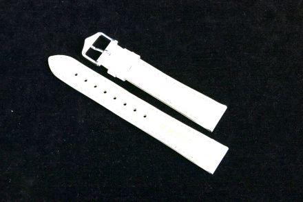 Biały pasek skórzany 22 mm HIRSCH Kansas 01502000-2-22 (L)