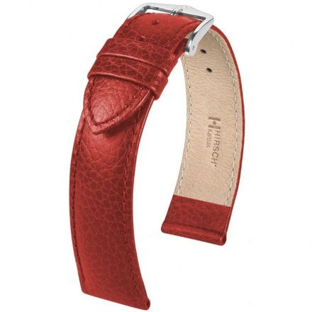 Czerwony pasek  skórzany 18 mm HIRSCH Kansas 01502020-2-18 (L)