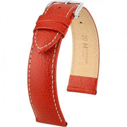 Czerwony pasek  skórzany 16 mm HIRSCH Kansas 01502021-2-16 (L)