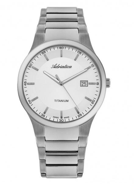 Zegarek Męski Adriatica na bransolecie A1145.4113Q - Zegarek Kwarcowy Swiss Made