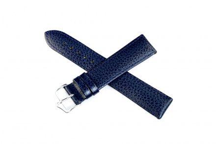 Niebieski pasek skórzany 18 mm HIRSCH Kansas 01502080-2-18 (L)