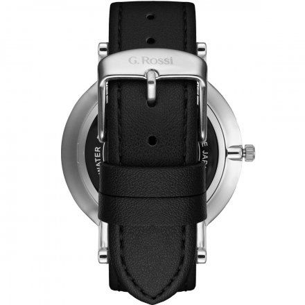 Zegarek Gino Rossi srebrny z czarnym paskiem G.R10401A2-1A1
