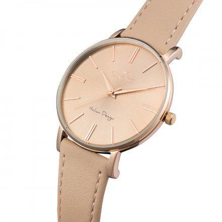 Zegarek G.Rossi różowozłoty z beżowym paskiem G.R10401A2-2B3