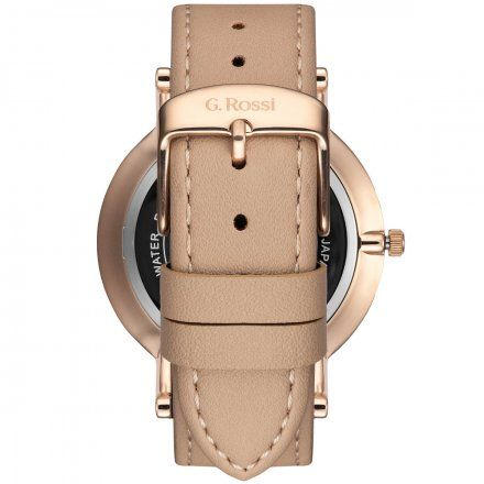 Zegarek Gino Rossi różowozłoty z beżowym paskiem G.R10401A2-2B3