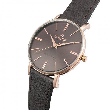 Zegarek G.Rossi różowozłoty z szarym paskiem G.R10401A2-4B4