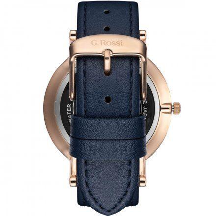 Zegarek Gino Rossi różowozłoty z granatowym paskiem G.R10401A2-6F3