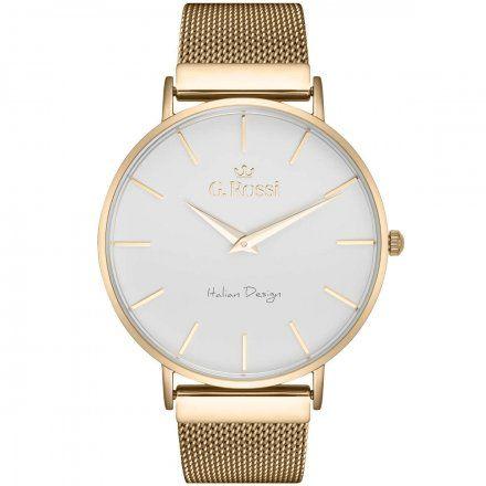 Zegarek Gino Rossi złoty z bransoletką G.R11014B8-3D1
