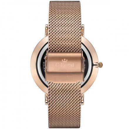 Zegarek Gino Rossi różowozłoty z bransoletką G.R11014B8-3D3