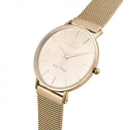 Zegarek G.Rossi złoty z bransoletką G.R11014B8-4D1