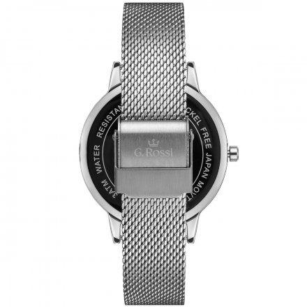 Zegarek damski Gino Rossi srebrny z bransoletką G.R11715B2-3C1