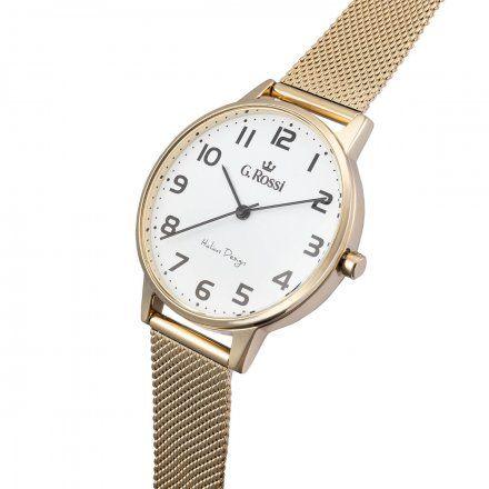 Zegarek damski G.Rossi złoty z bransoletką G.R11715B2-3D1
