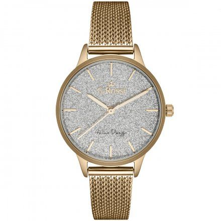 Zegarek damski Gino Rossi złoty z bransoletką G.R12082B-3D1
