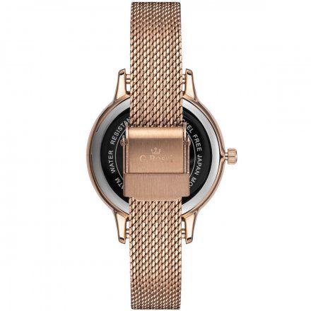 Zegarek damski Gino Rossi różowozłoty z bransoletką G.R12082B-4D3