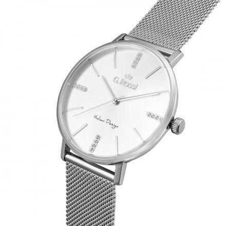 Zegarek damski Gino Rossi srebrny z bransoletką G.R12507B-3C1