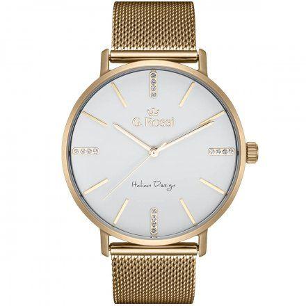 Zegarek damski Gino Rossi złoty z bransoletką G.R12507B-3D1