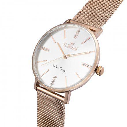 Zegarek damski G.Rossi różowozłoty z bransoletką G.R12507B-3D3