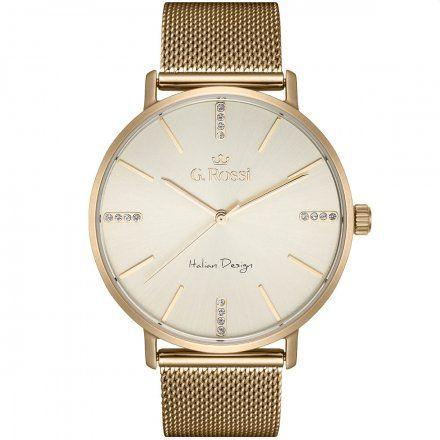 Zegarek damski Gino Rossi złoty z bransoletką G.R12507B-4D1