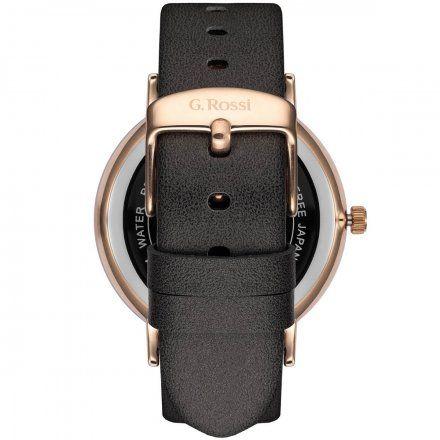Zegarek damski G.Rossi różowozłoty z szarym paskiem G.R12600A-1B3