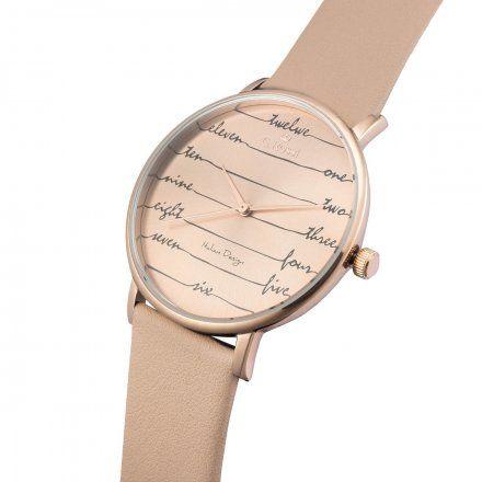 Zegarek damski G.Rossi różowozłoty z beżowym paskiem G.R12600A-2B3